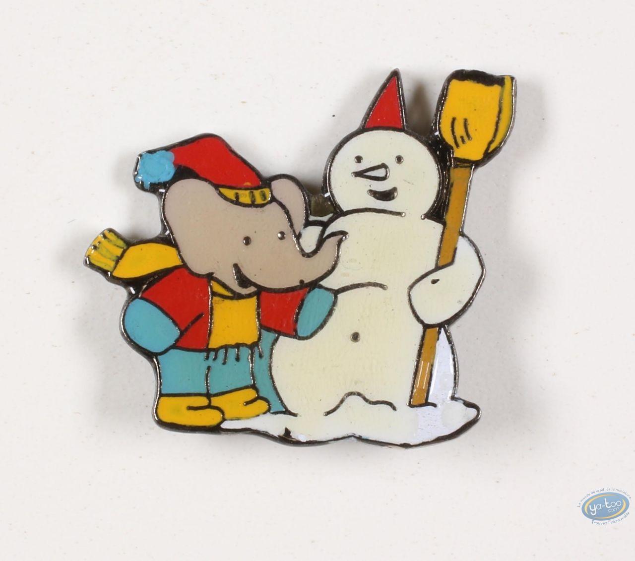 Pin's, Babar : Babar et le bonhomme de neige