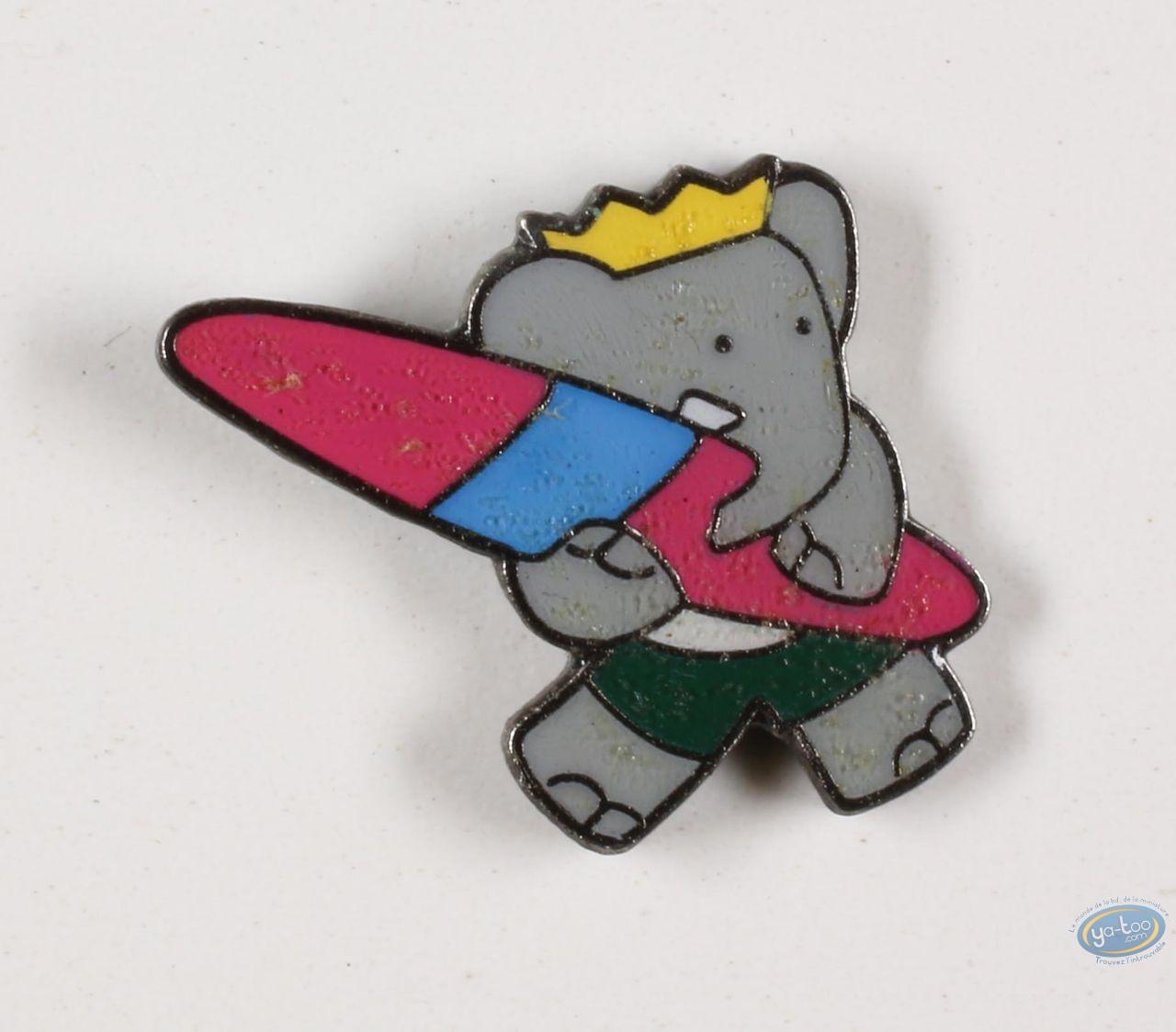 Pin's, Babar : Babar fait du surf