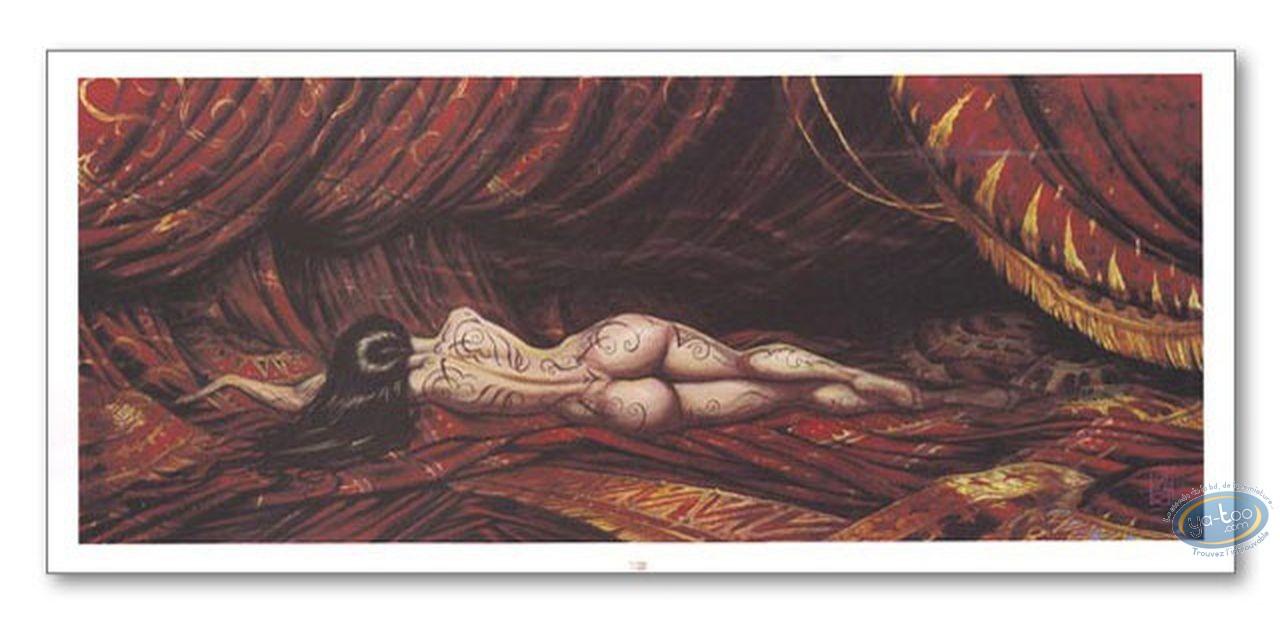 Affiche Offset, Femme allongée