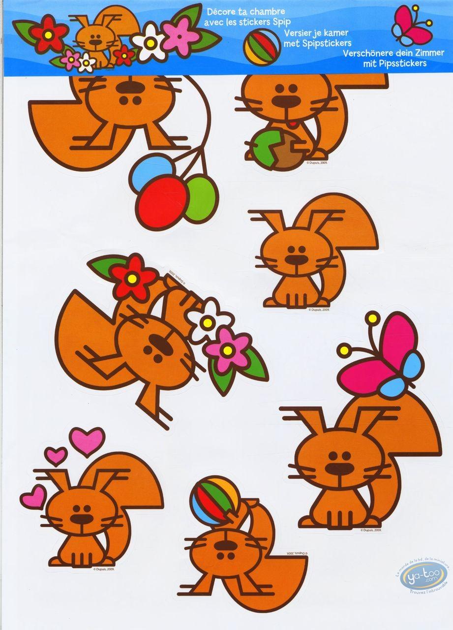 Jouet, Spip : Stickers autocollants de Spip