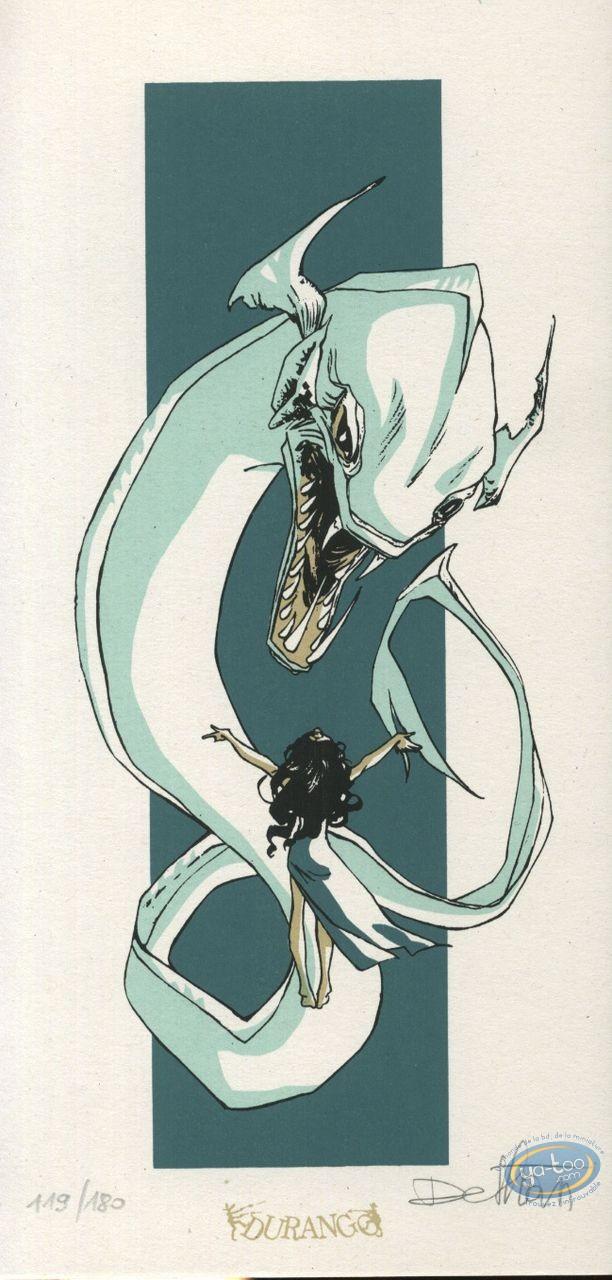 Ex-libris Sérigraphie, Roi Cyclope (Le) : Monstre marin