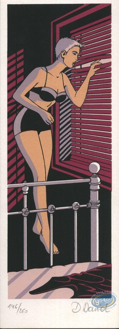 Marque-page sérigraphie, Lipstick : A la fenêtre