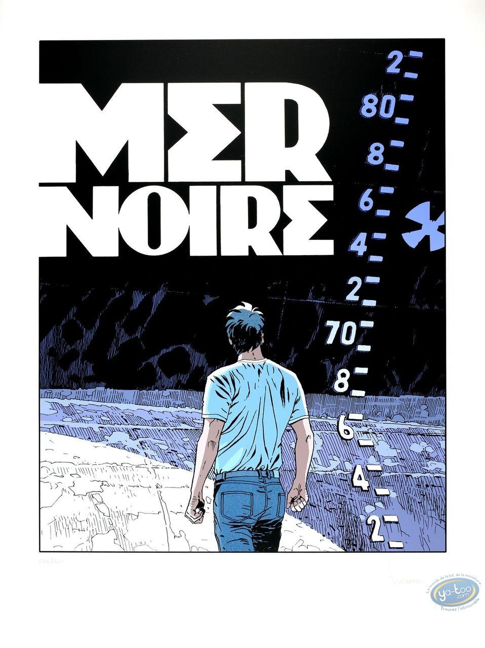 Affiche Sérigraphie, Largo Winch : Mer Noire