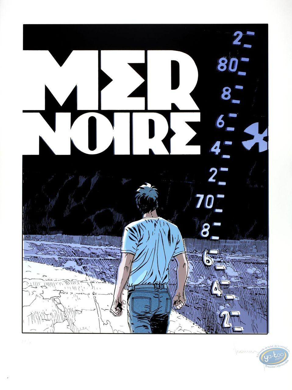 Affiche Sérigraphie, Largo Winch : Mer Noire (variante cello)