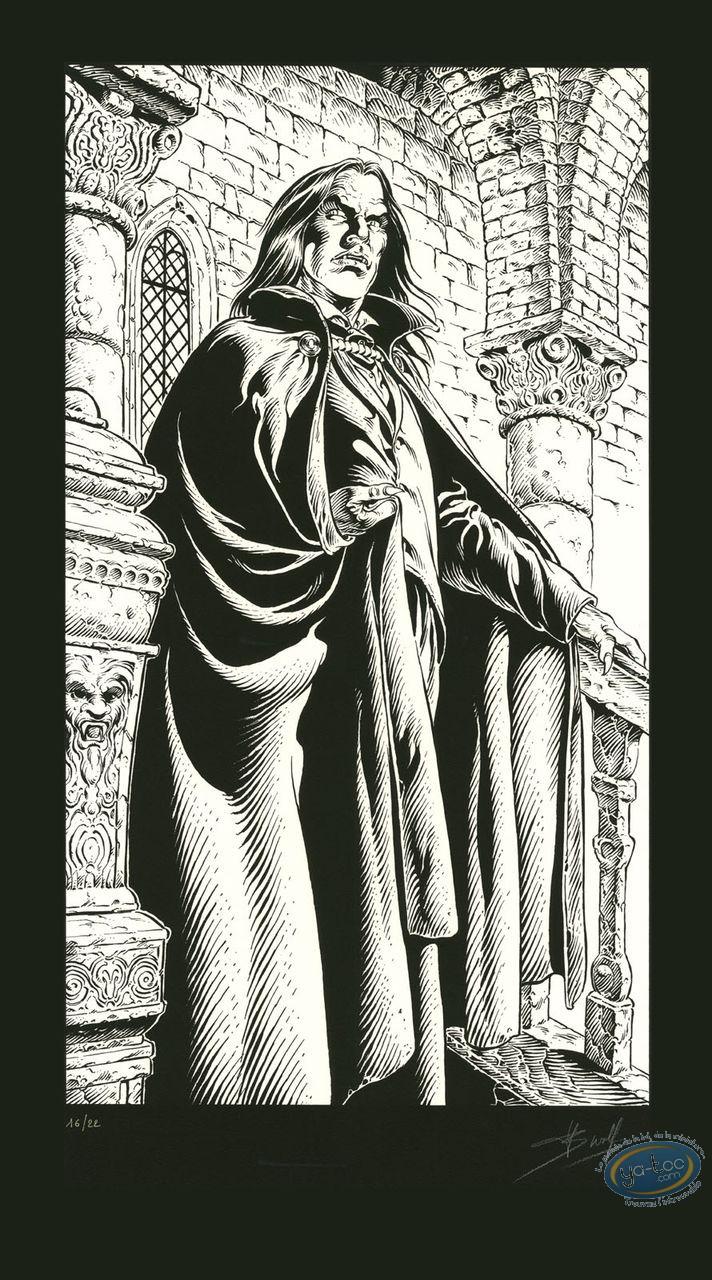 Affiche Sérigraphie, Prince de la Nuit (Le) : Kergan (n&b)