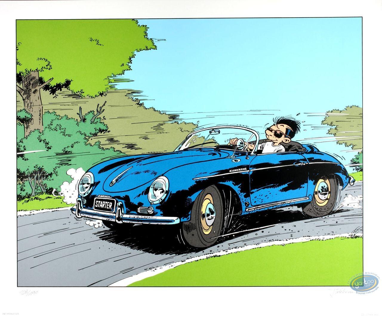 Affiche Sérigraphie, Starter : Starter en Porsche