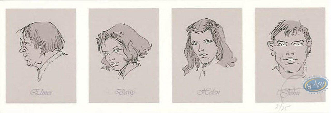Ex-libris Sérigraphie, Manhattan Beach 1957 : Galerie de portraits (variante)