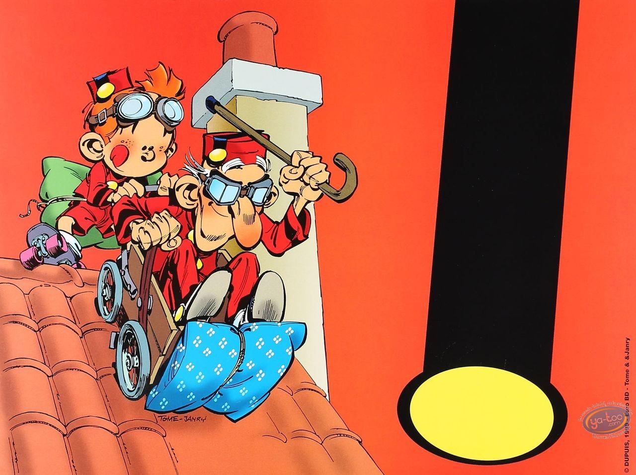 Affiche Offset, Petit Spirou (Le) : Papy sur le toit (petit)