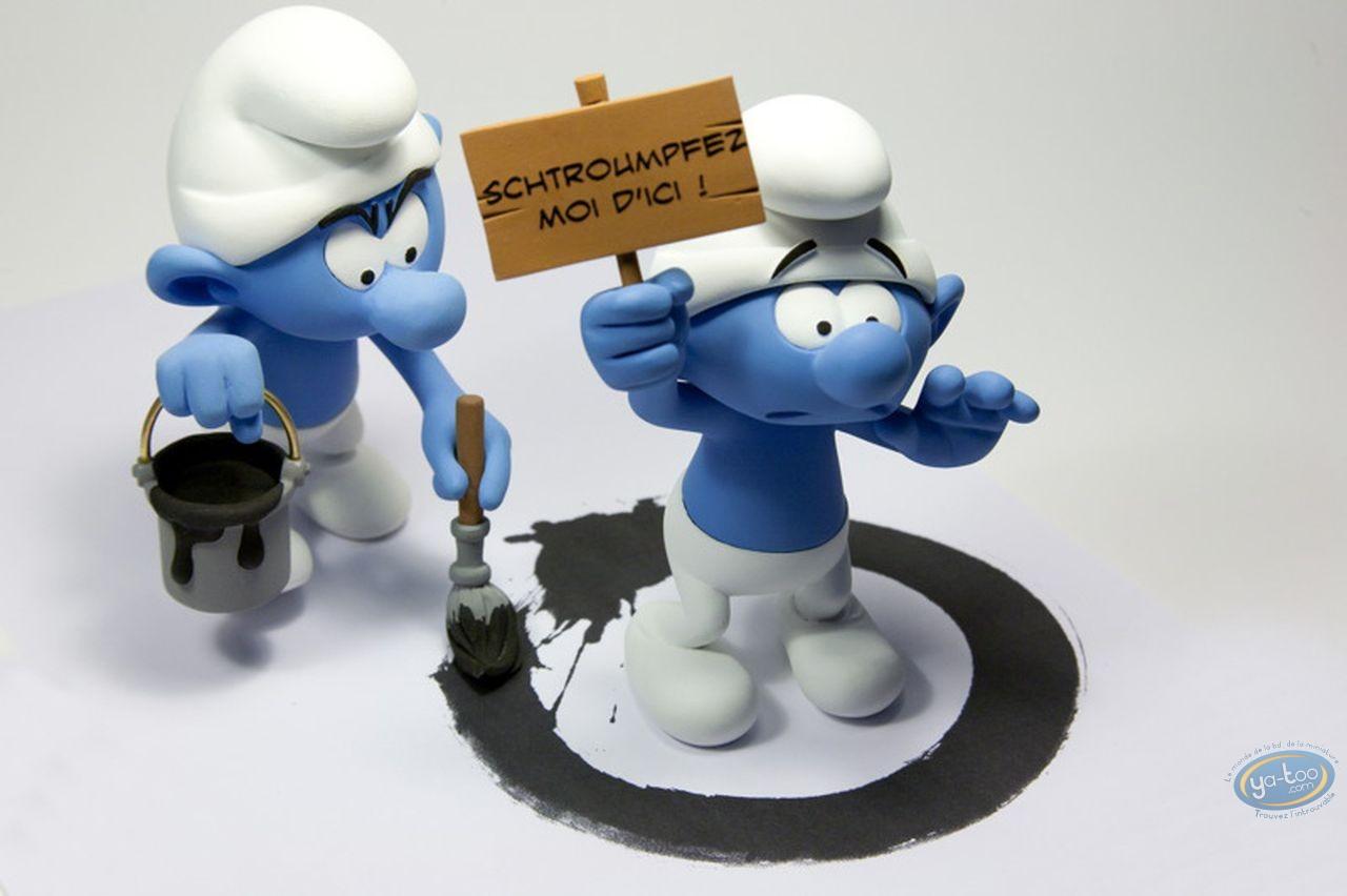 Statuette résine, Schtroumpfs (Les) : Schtroumpf SOS