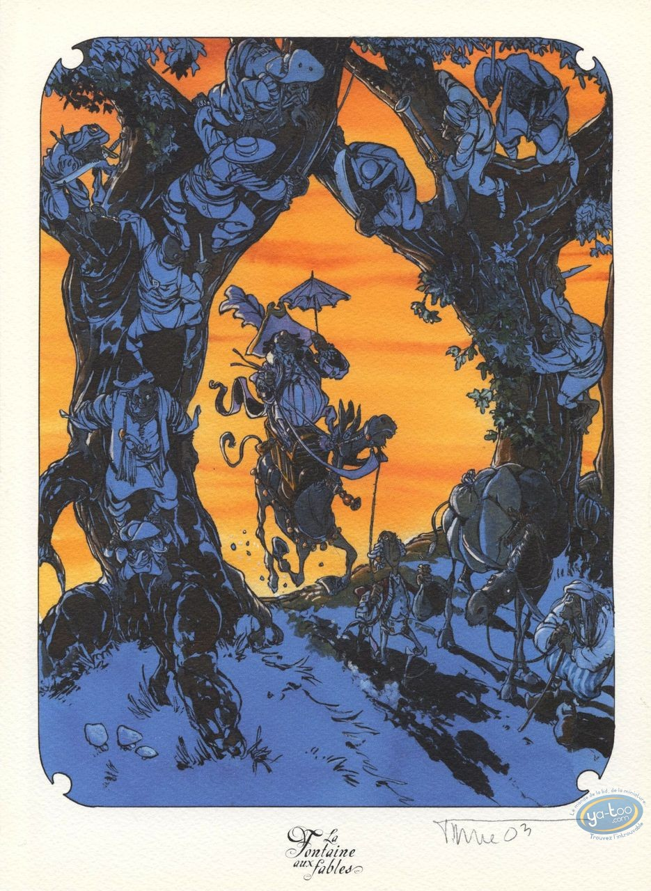 Ex-libris Offset, Fontaine aux Fables (La) : les deux Mulets