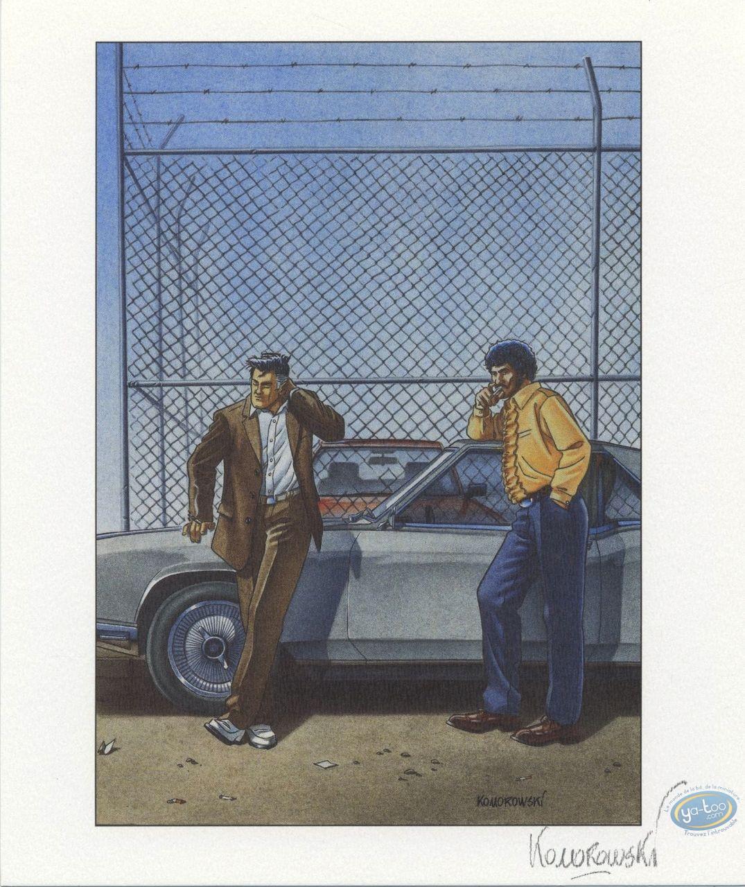 Ex-libris Offset, Ocean City : Grillage