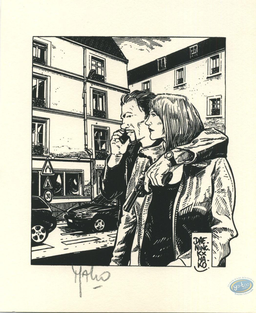 Ex-libris Offset, Levée d'écrou : Couple (n&b)