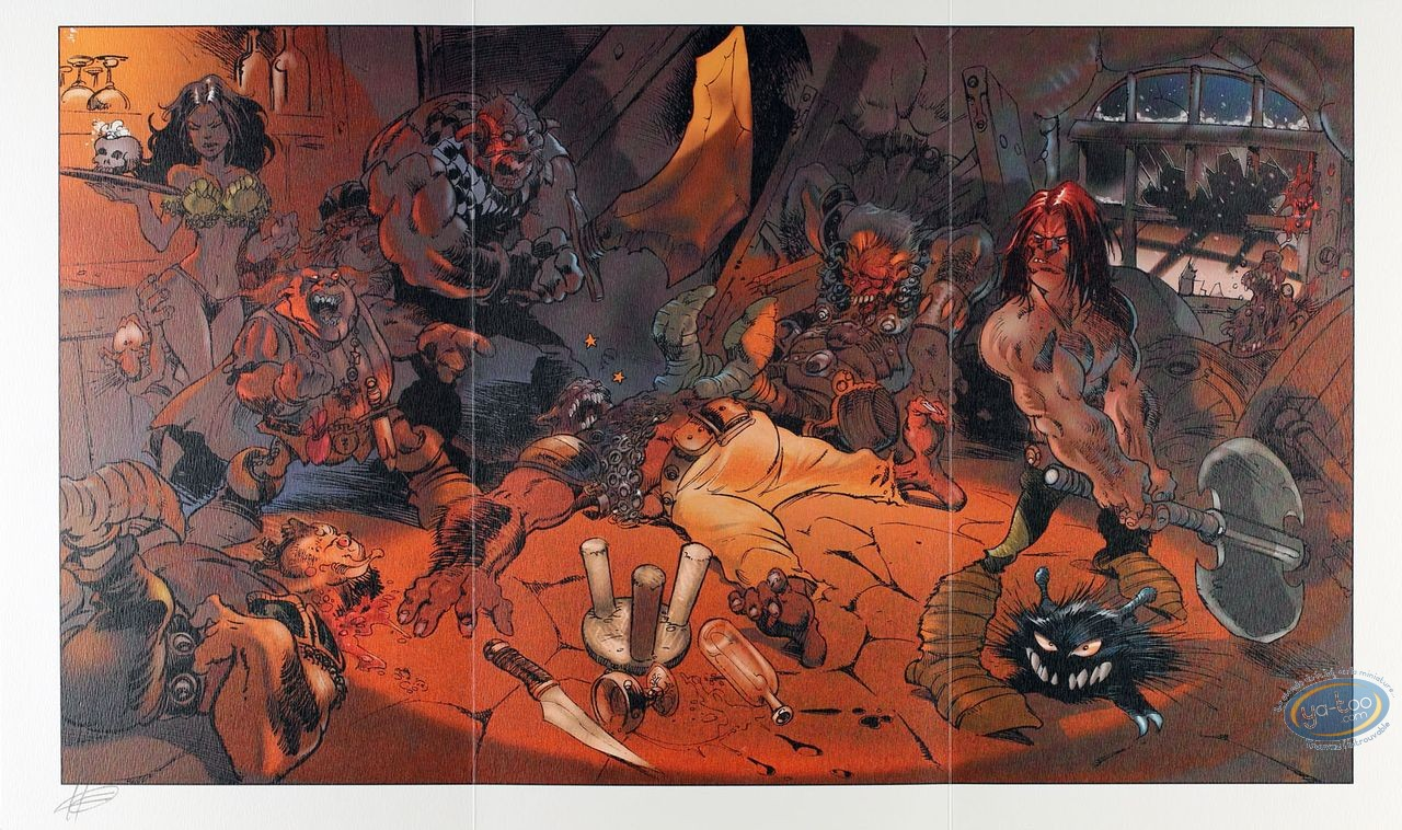 Ex-libris Offset, Kran le Barbare : Bagarre