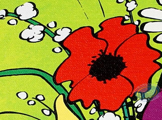 Impression sur toile, Schtroumpfs (Les) : Le Bouquet