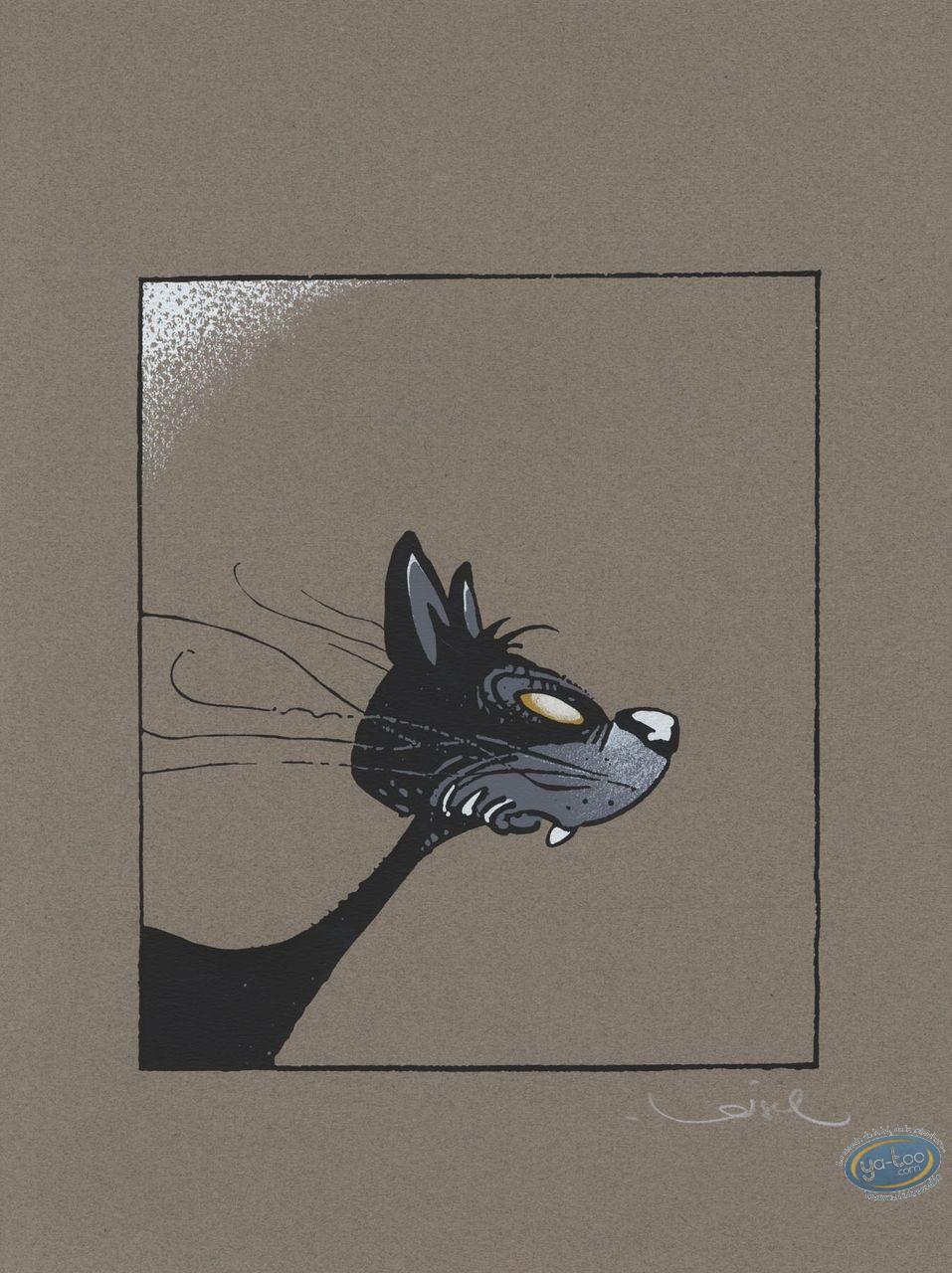 Affiche Sérigraphie, Le Chat