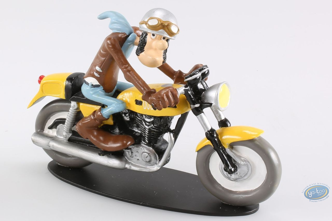 Statuette résine, Joe Bar Team : Ted Debielle - Ducati 350 Desmo