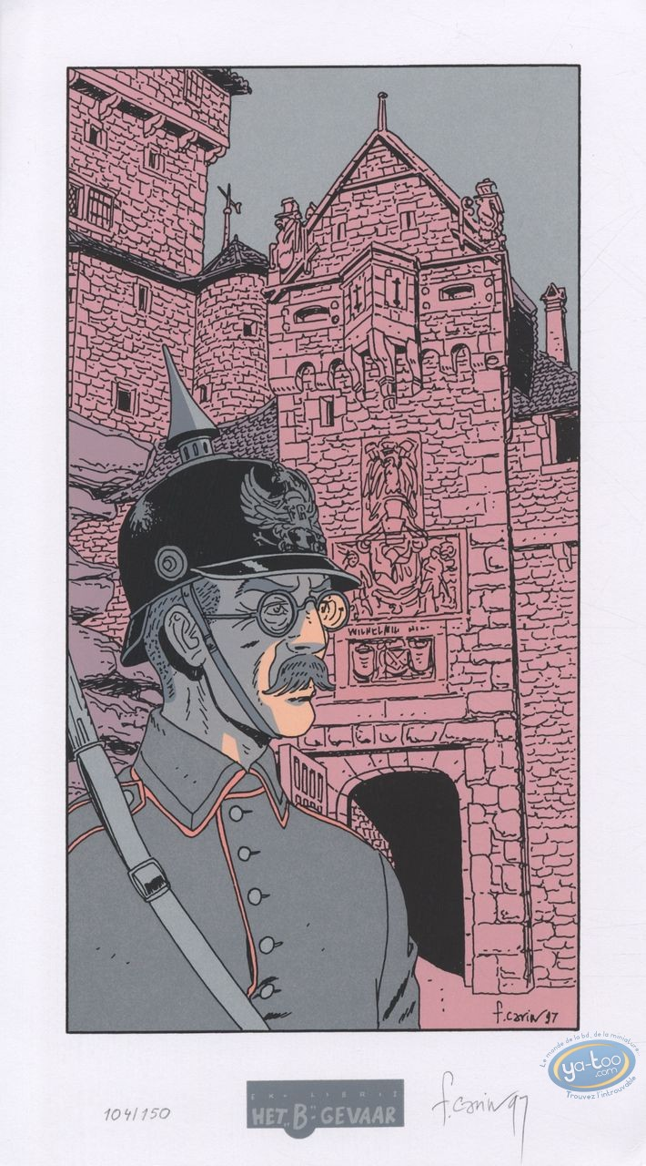 Ex-libris Sérigraphie, Victor Sackville : Soldat Prussien