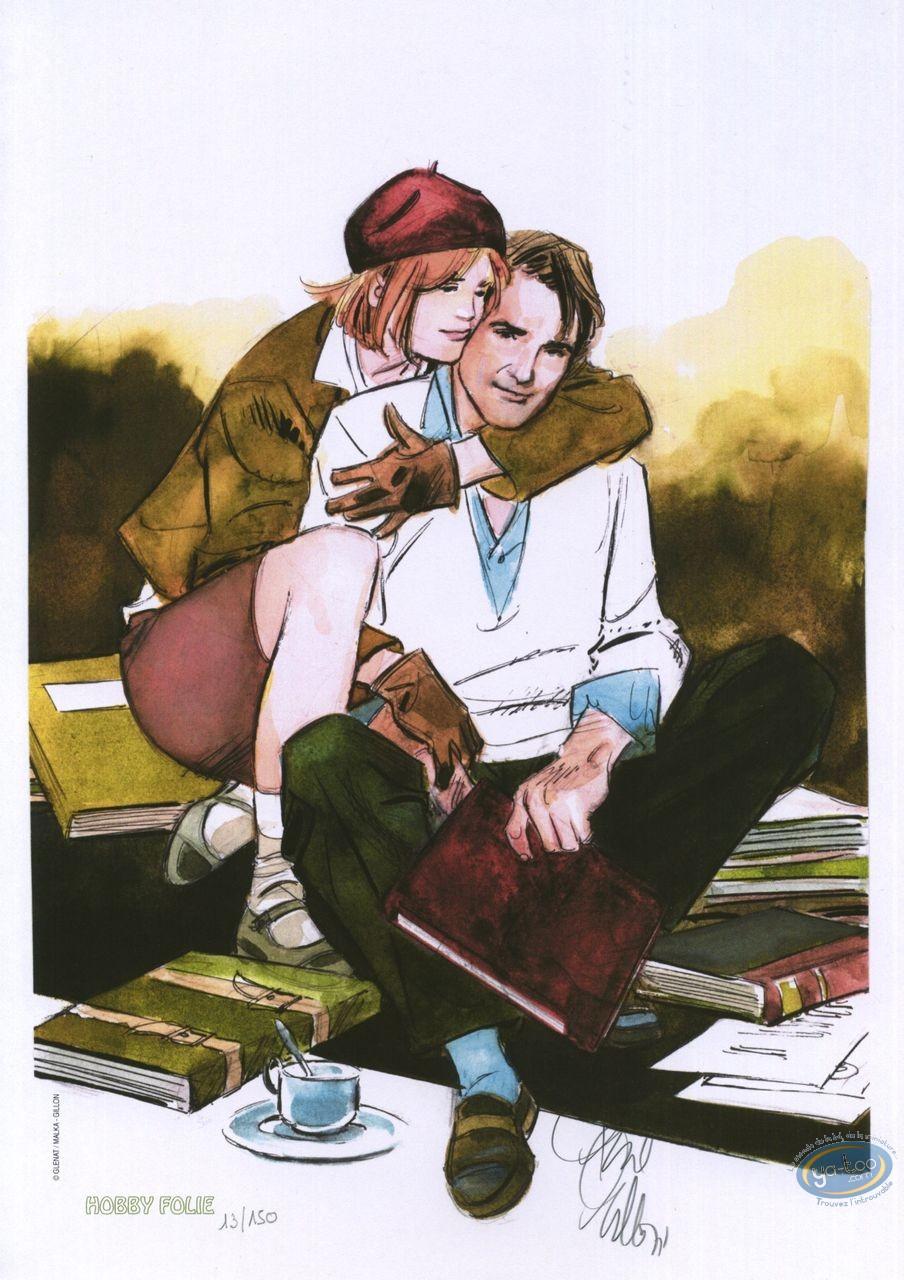 Ex-libris Offset, Ordre de Cicéron (L') : Couple assis