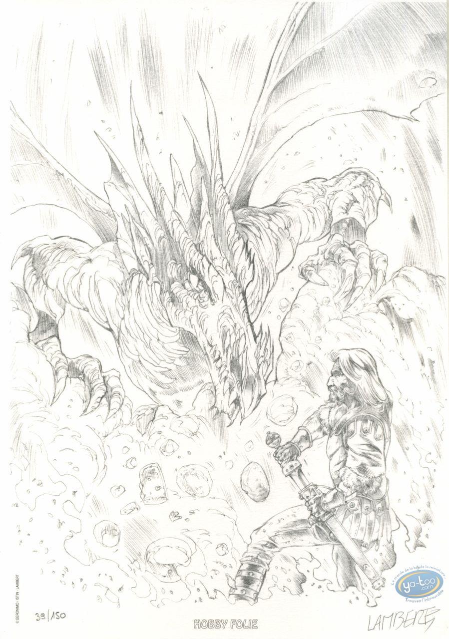 Ex-libris Offset, Merlin : Combat contre le dragon