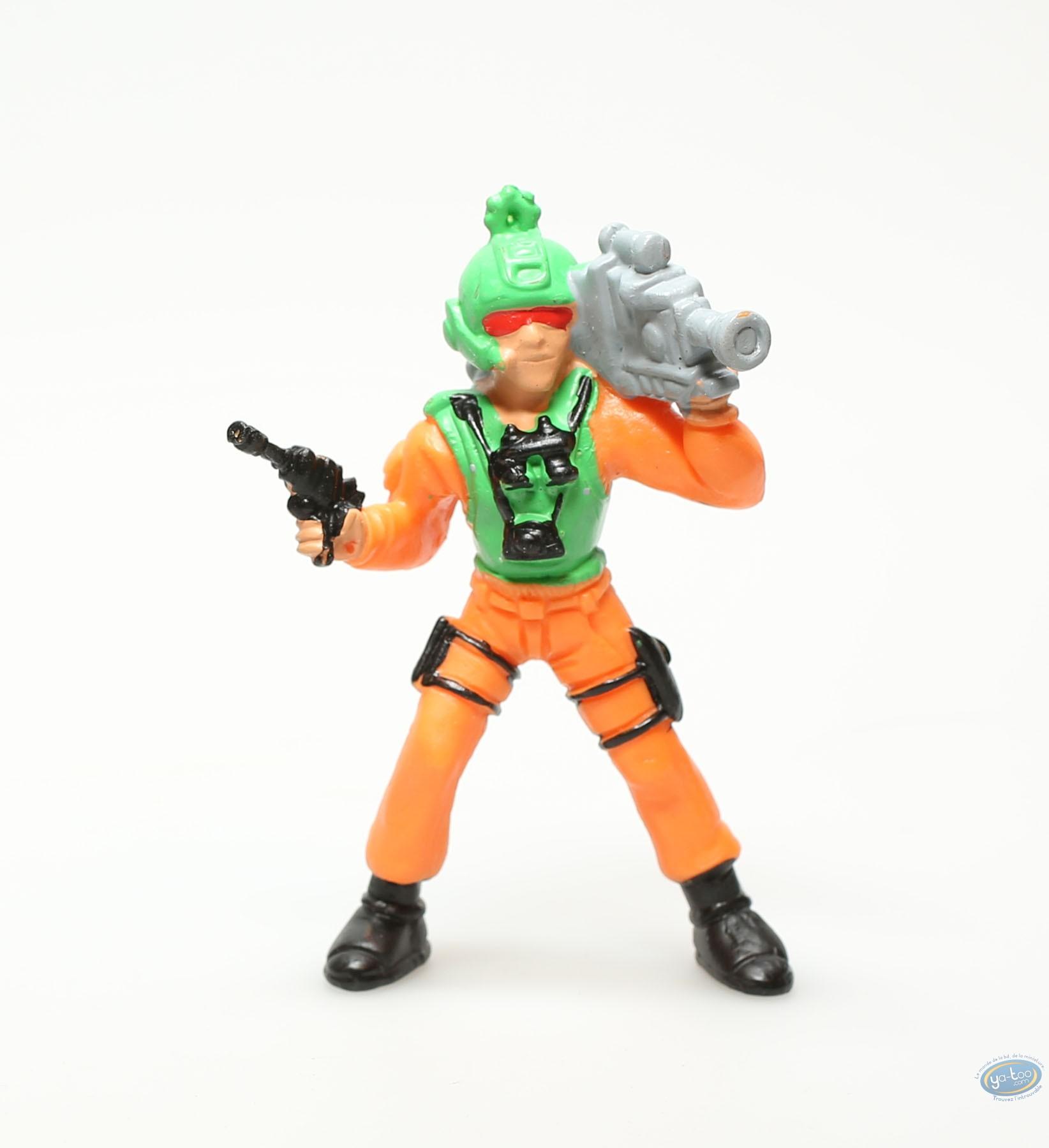 Figurine plastique, Personnage orange avec camera