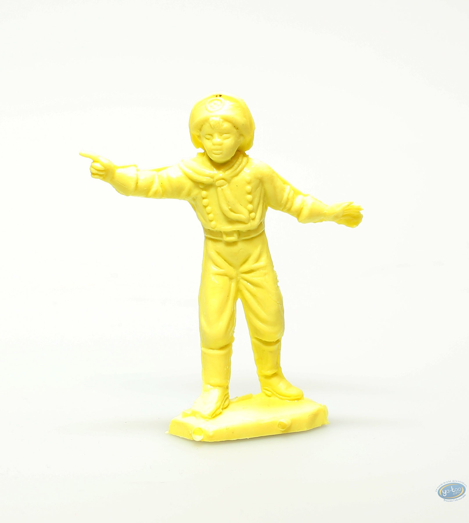 Figurine plastique, Rintintin : Rusty jaune montrant du doigt