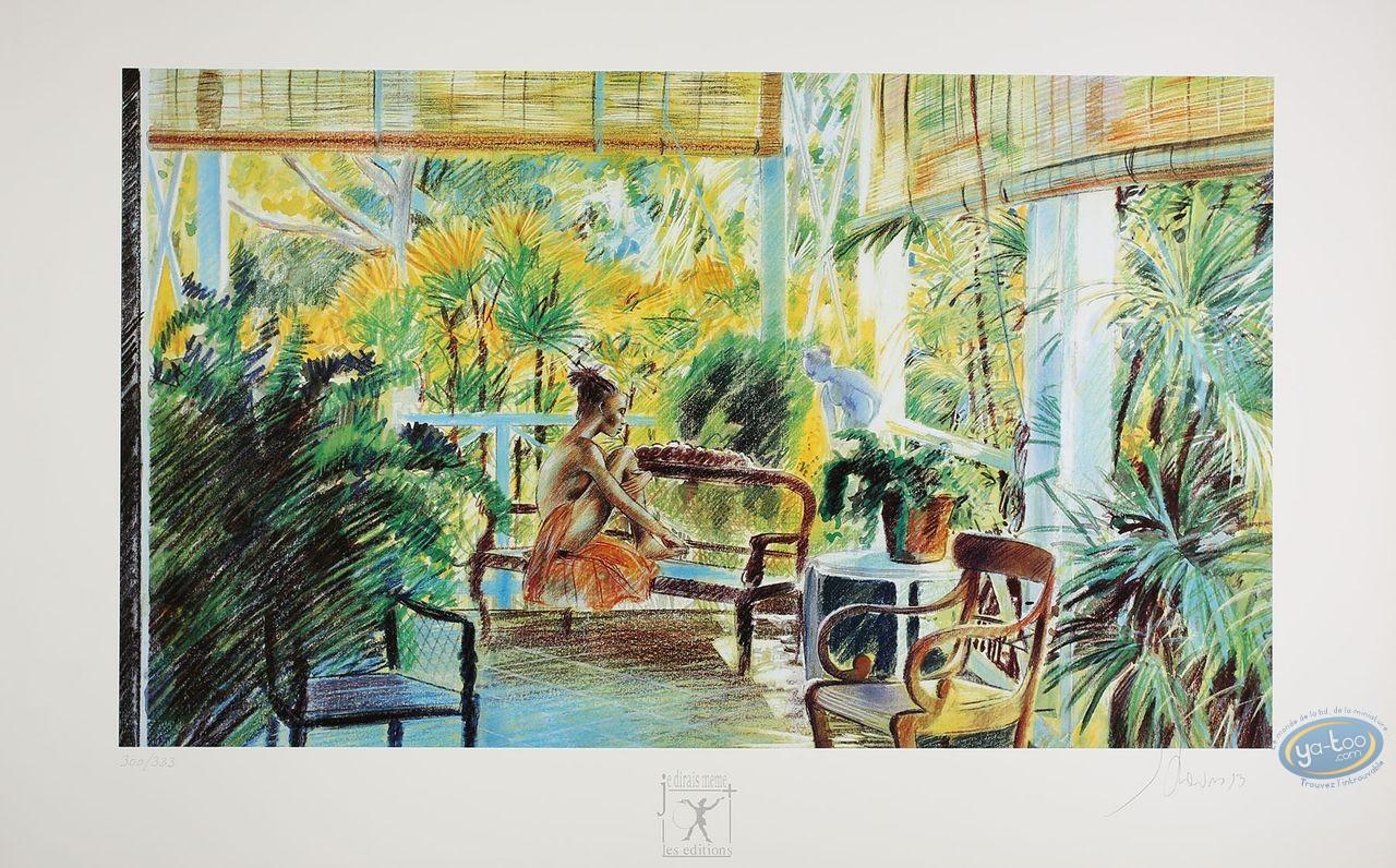 Affiche Offset, Equatoriales (Les) : Femme sur la veranda