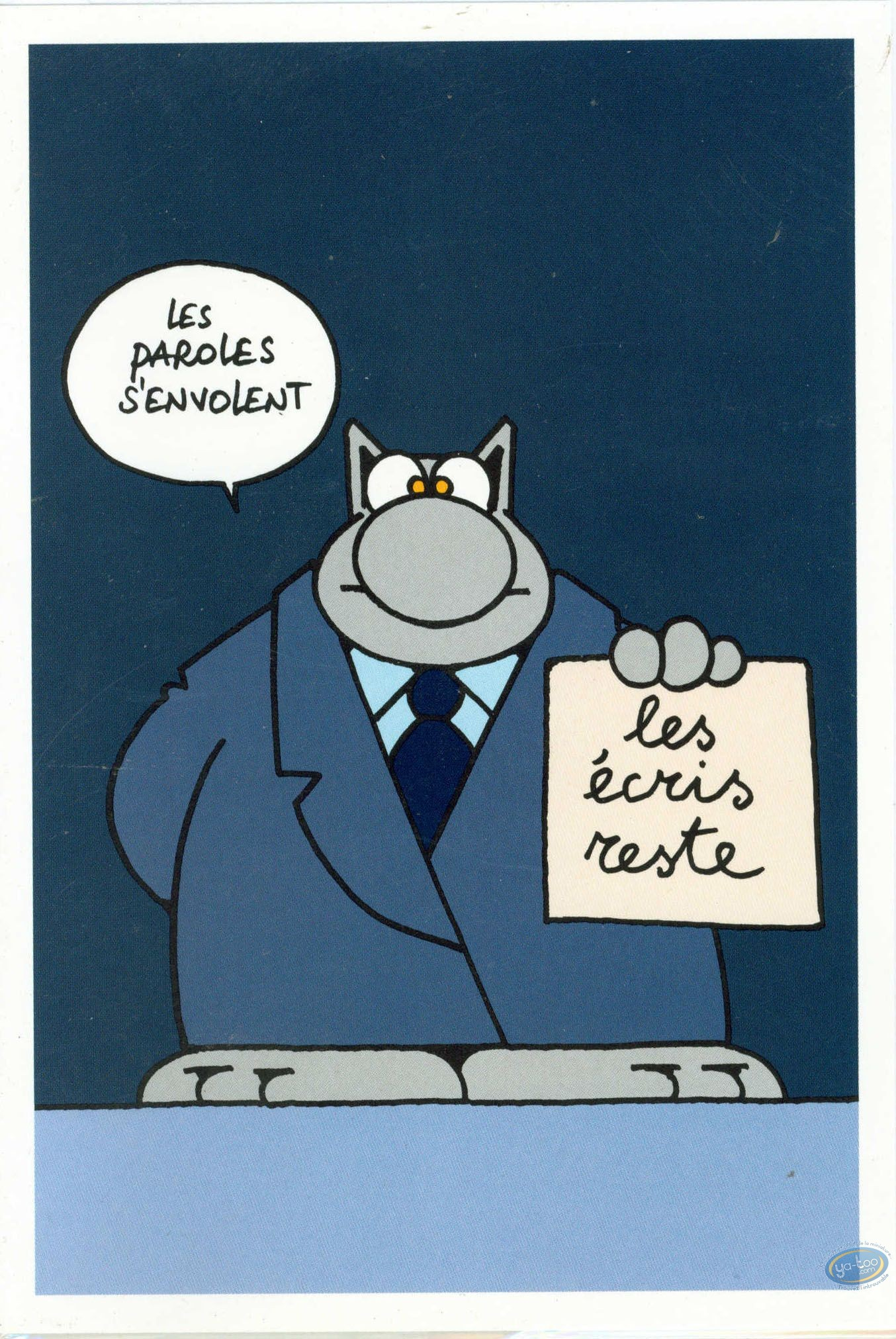 Carte postale, Chat (Le) : Double carte postale, Paroles, paroles...