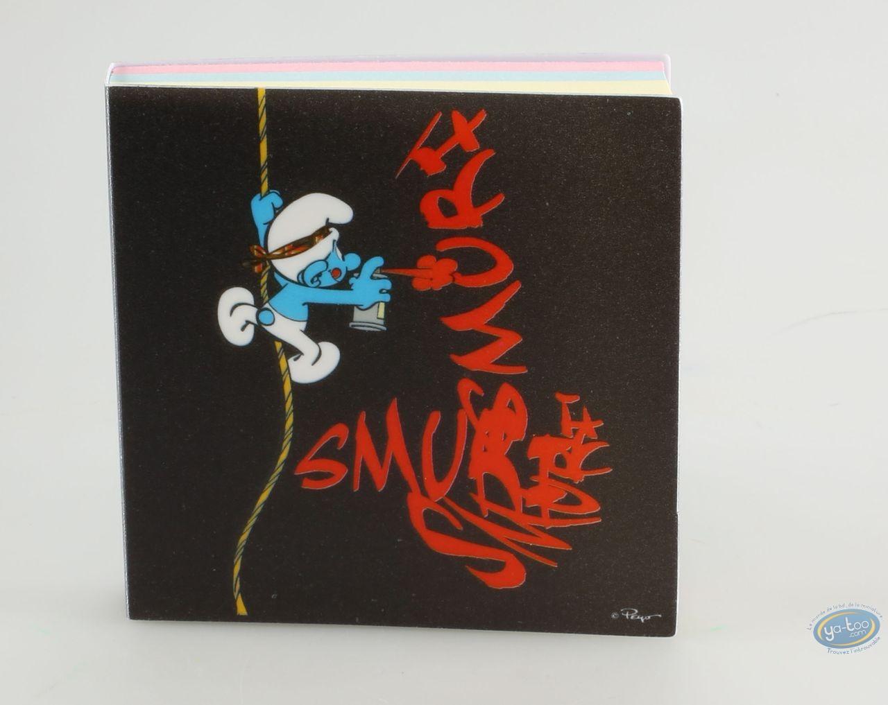 Fourniture bureau, Schtroumpfs (Les) : Bloc note : Schtroumpf graffitis