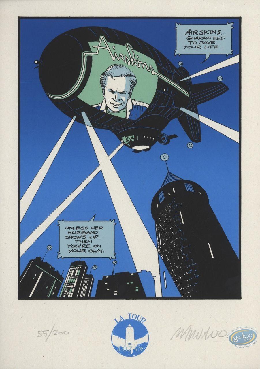 Ex-libris Sérigraphie, Dallas Barr : Airskins