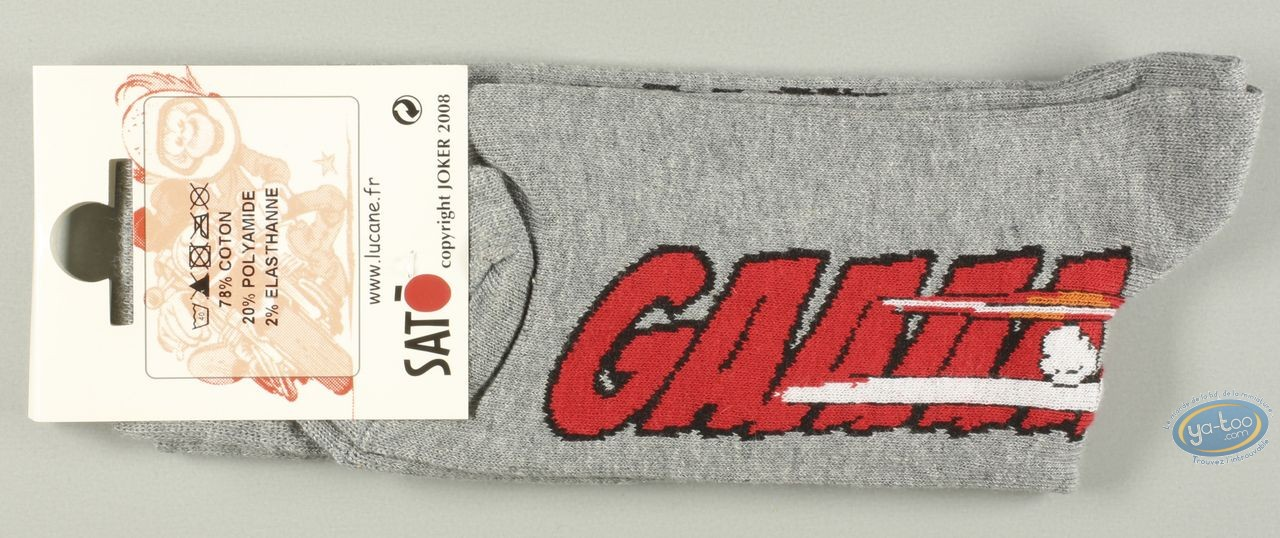 Vêtement, Même pas Peeur : Chaussettes, Gaaaaz DUCATI - grises