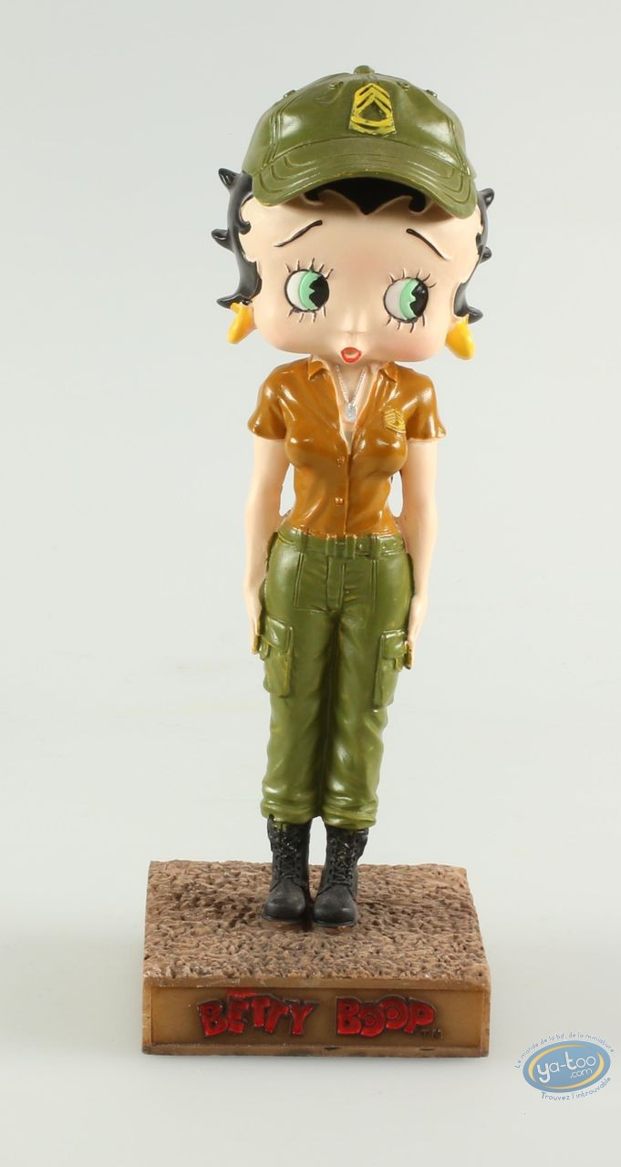 Statuette résine, Betty Boop : Betty Boop Militaire