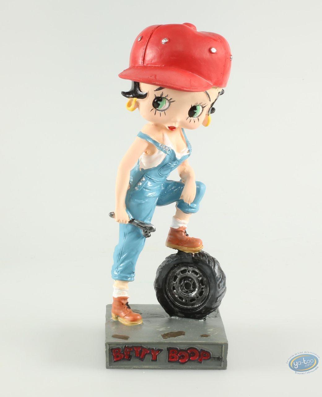 Statuette résine, Betty Boop : Betty Boop Garagiste