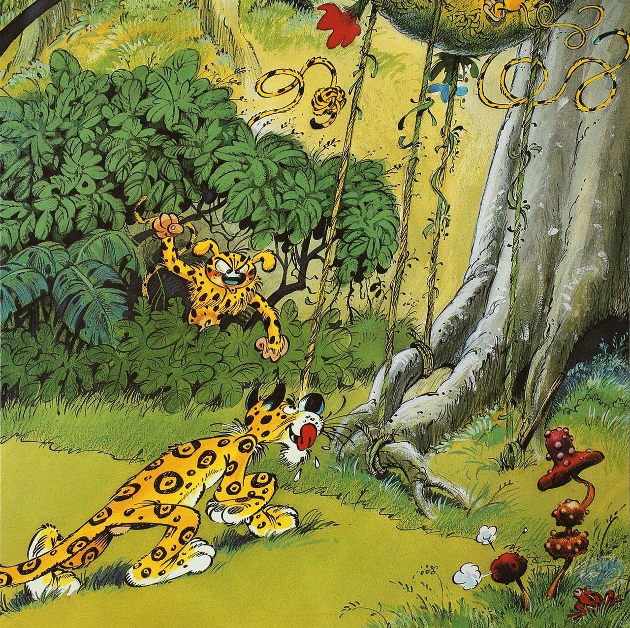 Affiche Offset, Marsupilami (Le) : Le Jaguar (variante)