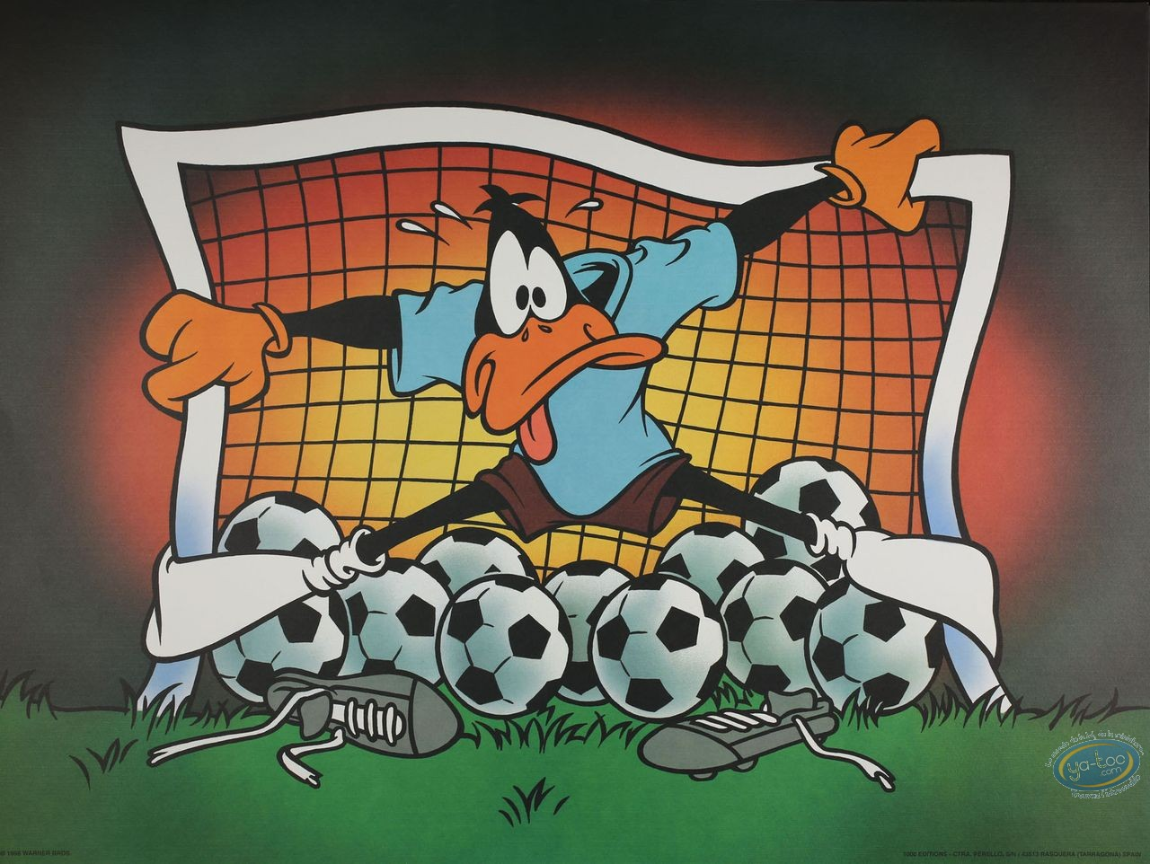 Affiche Offset, Daffy Duck : Daffy goal 80X60 cm