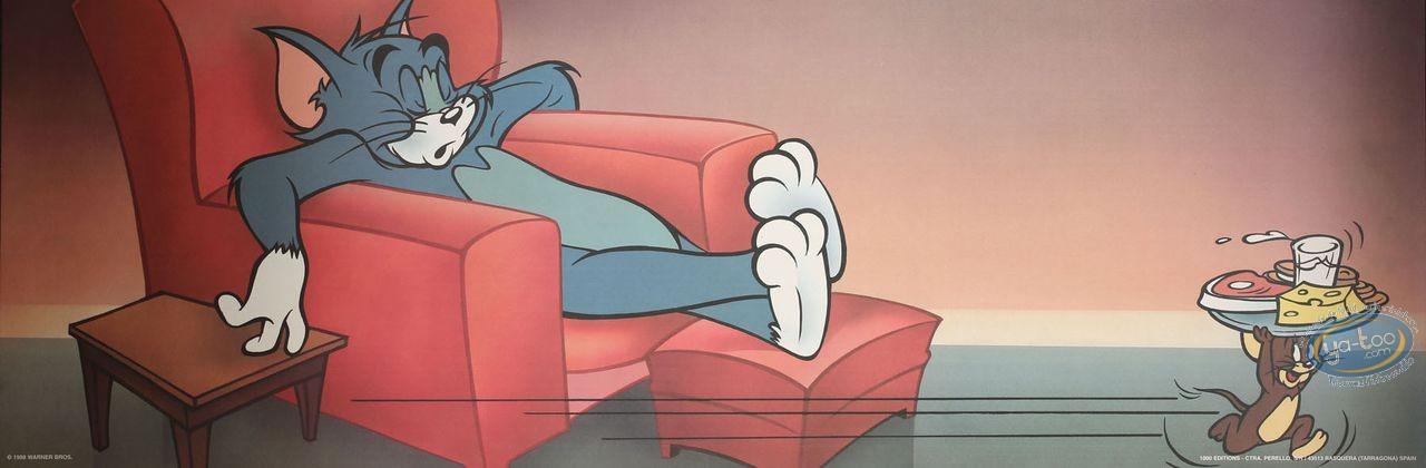 Affiche Offset, Tom et Jerry : Pendant que Tom dort 90X30 cm