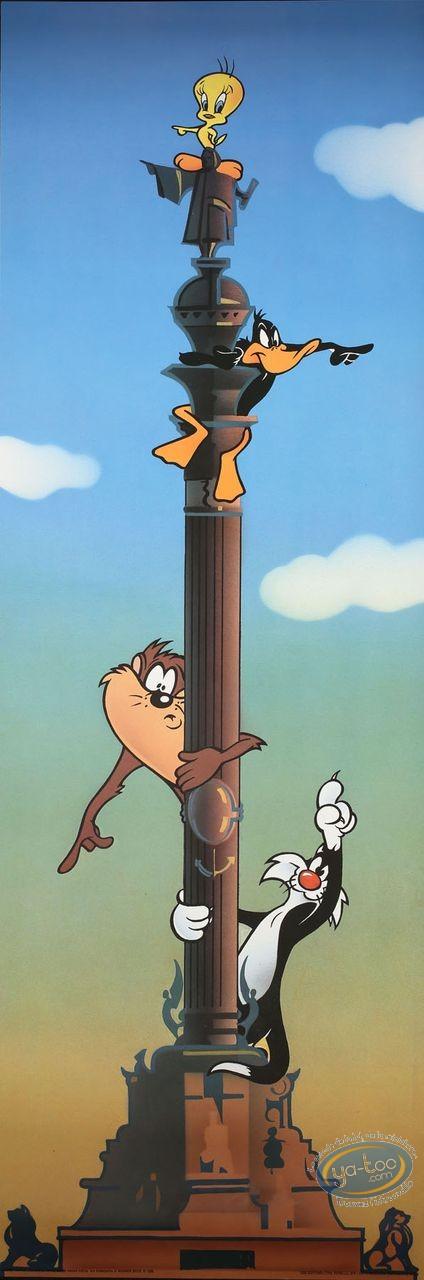 Affiche Offset, Looney Tunes (Les) : Le panneau indicateur 30X90 cm