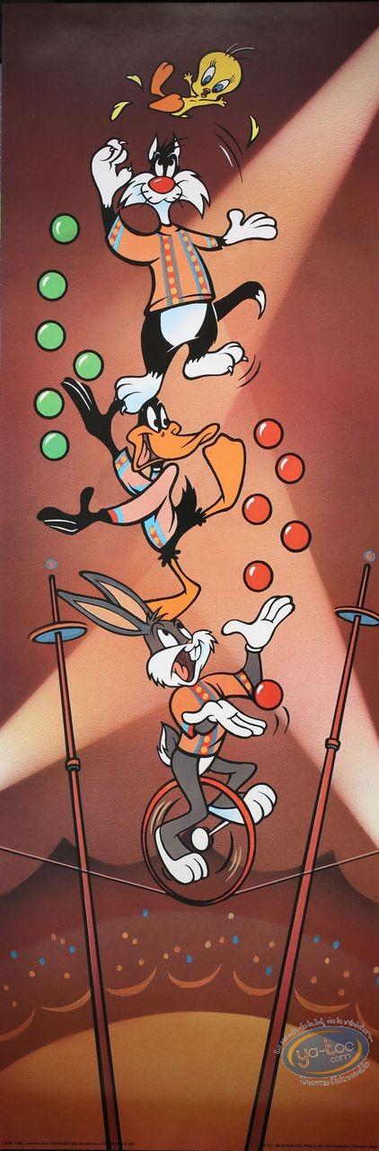 Affiche Offset, Looney Tunes (Les) : Le cirque 30X90 cm