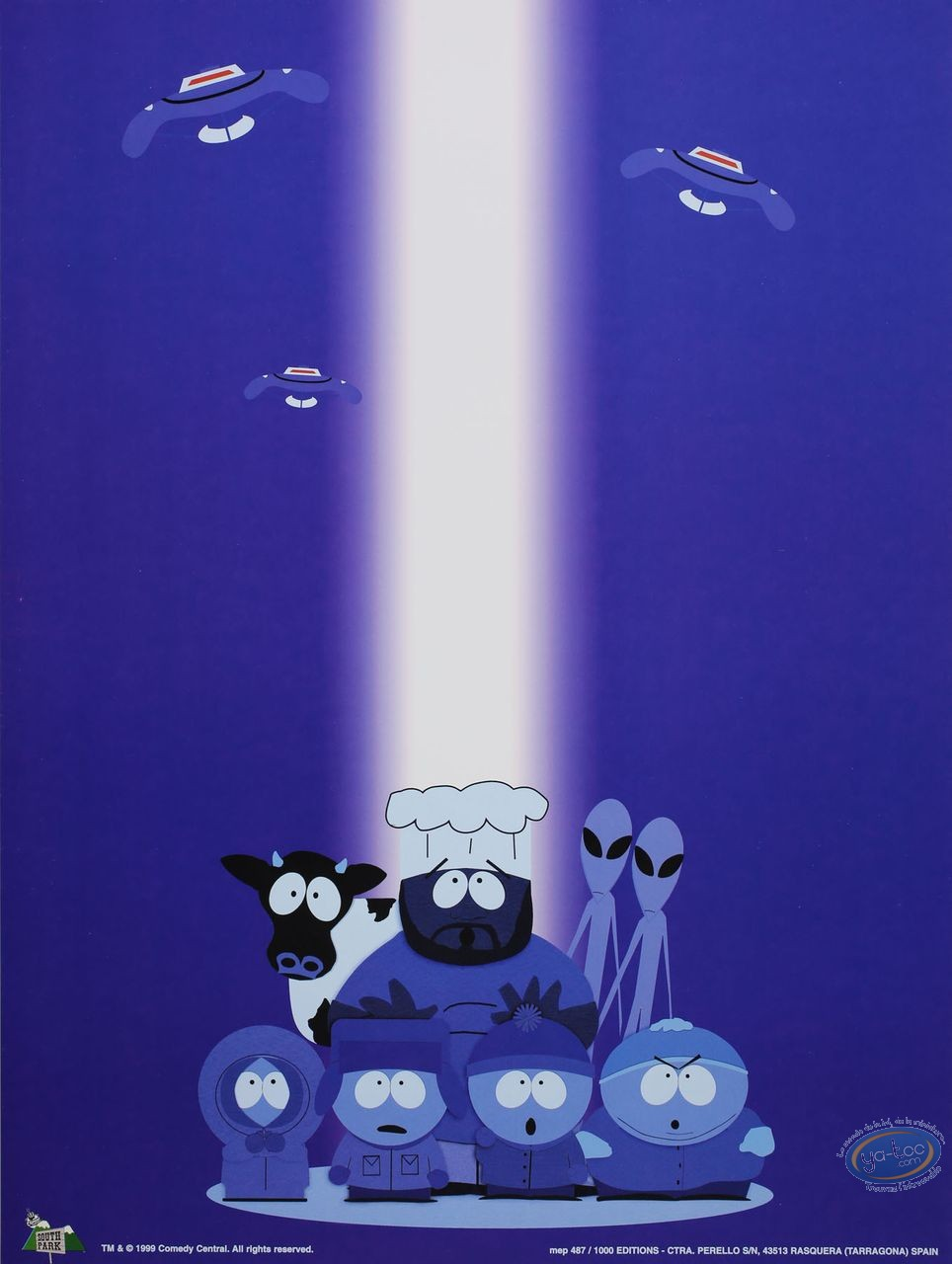 Affiche Offset, South Park : OVNI 30X40 cm