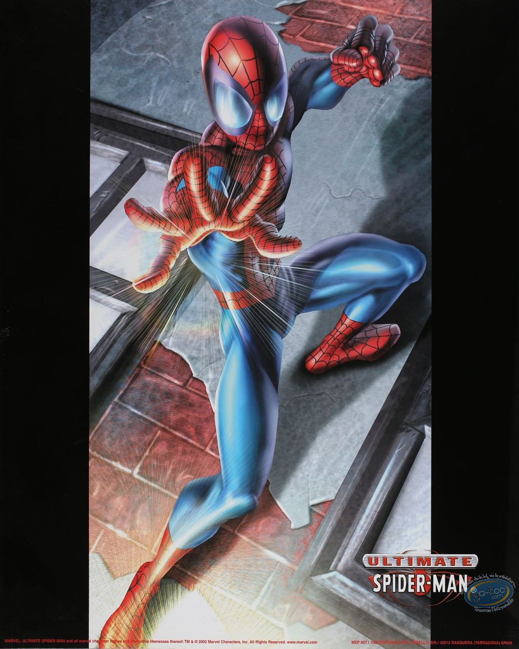Affiche Offset, Spiderman : Mur 40X50 cm