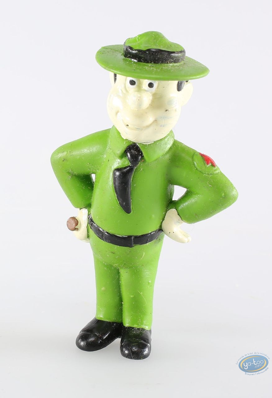 Figurine plastique, Yogi l'ours : Ranger smith matraque sur la hanche