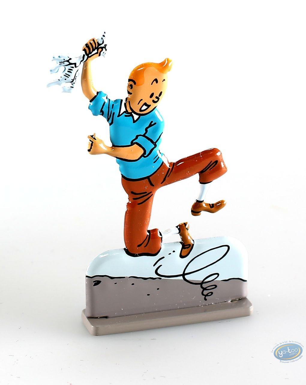 Figurine métal, Tintin : Tintin dans Le temple du soleil (bas relief)