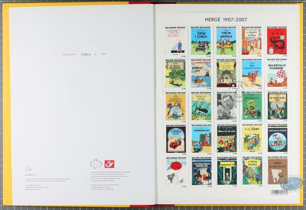Album + timbres, Tintin : Hergé 25 timbres à la une