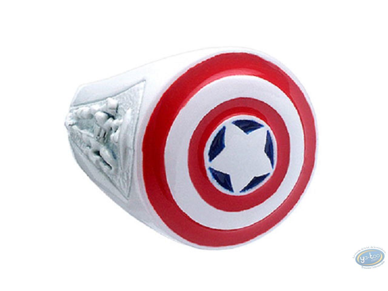 Bijou, Captain America : Bague, Capitaine América [Taille 62]