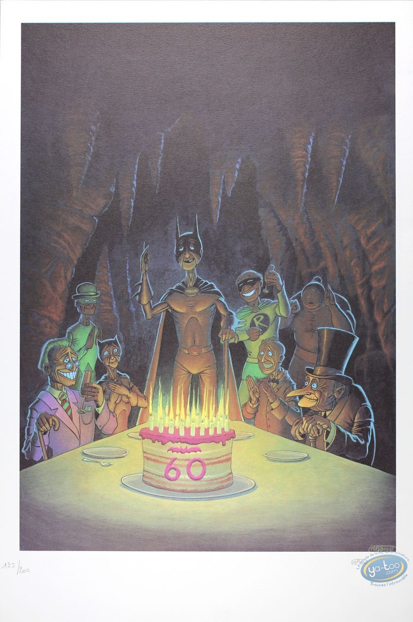 Affiche Offset, Batman : Les 60 ans de Batman