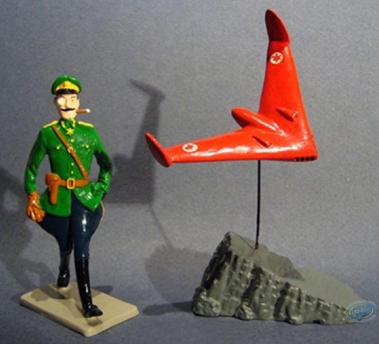 Figurine métal, Blake et Mortimer : Olrik & Aile Volante, Pixi