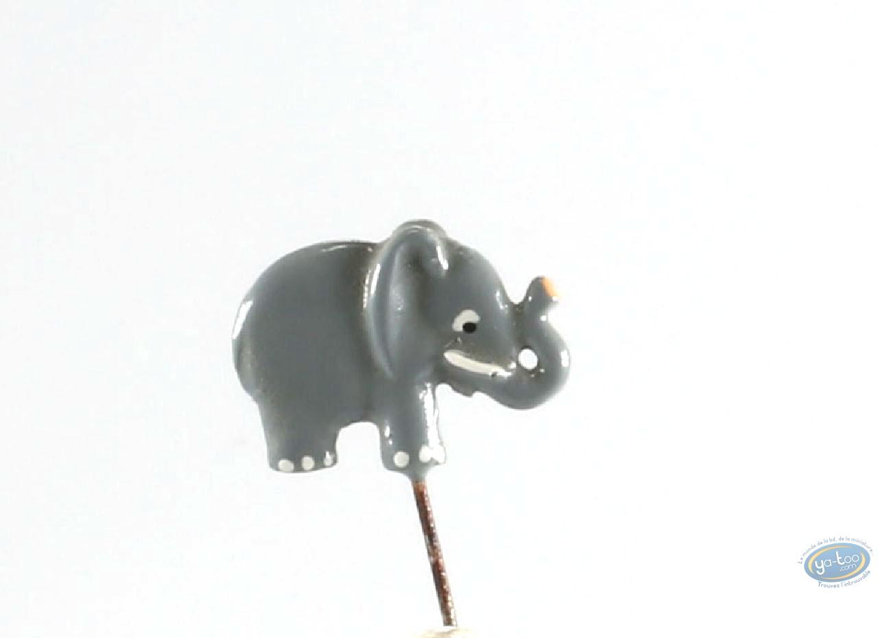 Figurine métal, Animaux : Epinglette, Eléphant, Pixi
