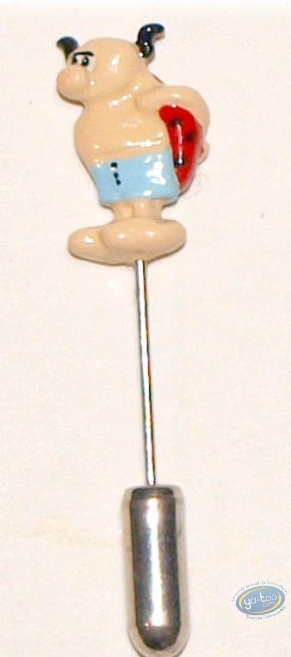Figurine métal, Rubrique à Brac : Epinglette, Coccinelle, Pixi