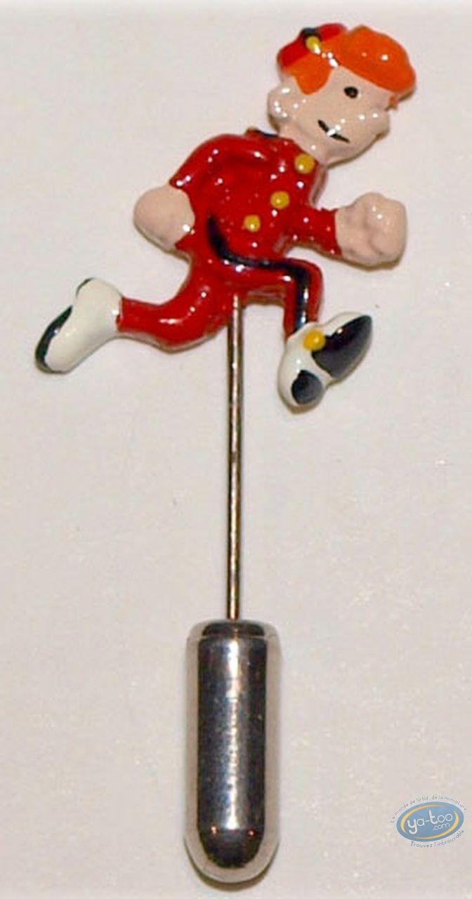 Figurine métal, Spirou et Fantasio : Epinglette, Spirou, Pixi