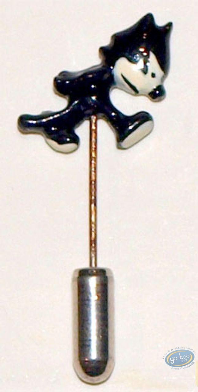 Figurine métal, Félix le Chat : Epinglette, Félix le chat, Félix marchant, Pixi