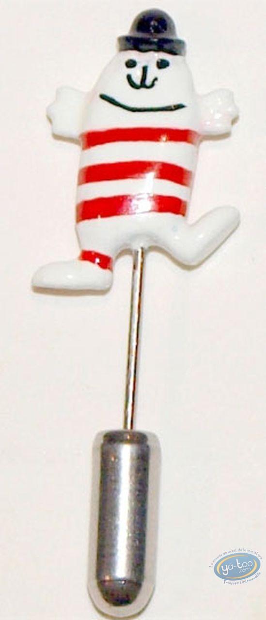 Figurine métal, Shadoks (Les) : Epinglette, Gibi à rayures, Pixi